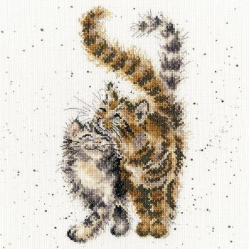 Feline Good Cat cross stitch - Hannah Dale