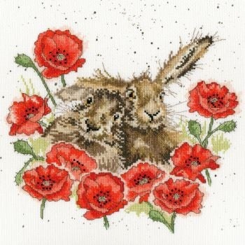 Love is in the Hare cross stitch - Hannah Dale