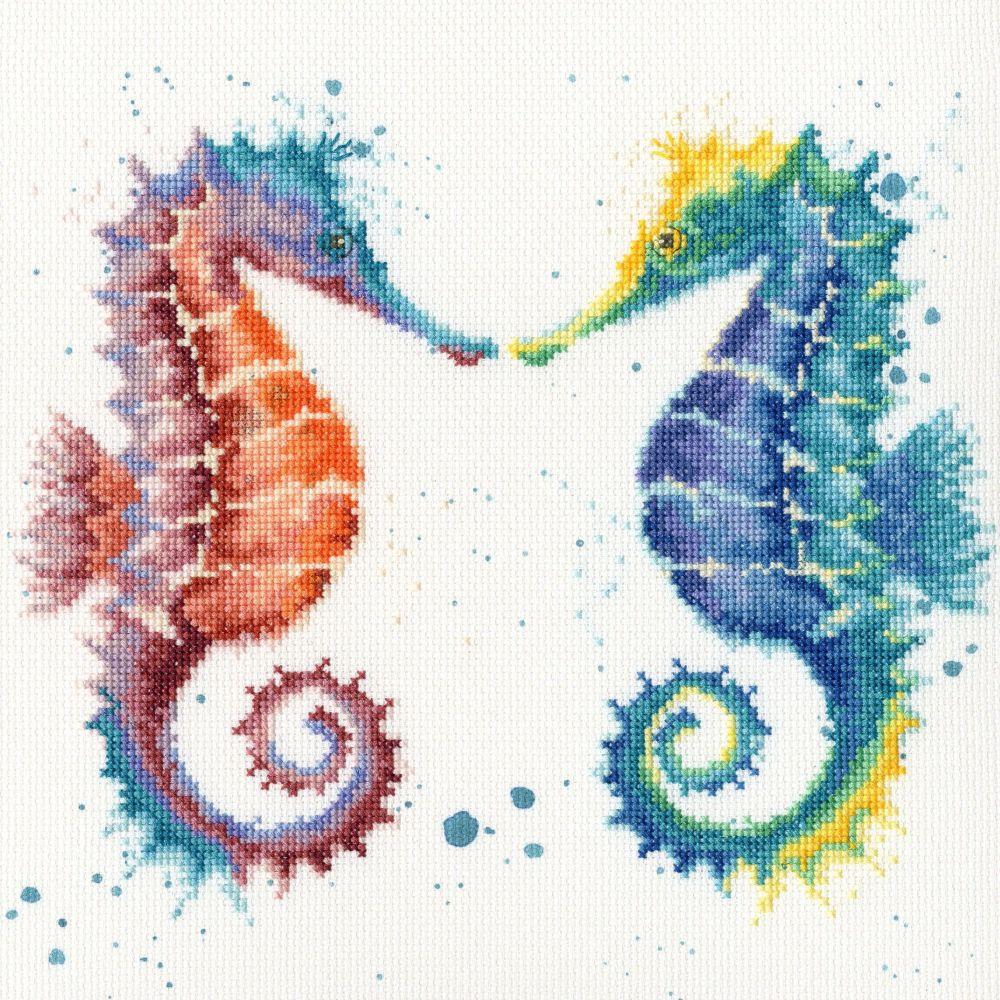 Shell We Dance Seahorse cross stitch - Hannah Dale