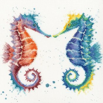 Shell We Dance Seahorse cross stitch - Hannah Dale