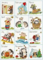 Calendar Creatures Cross Stitch - Margaret Sherry