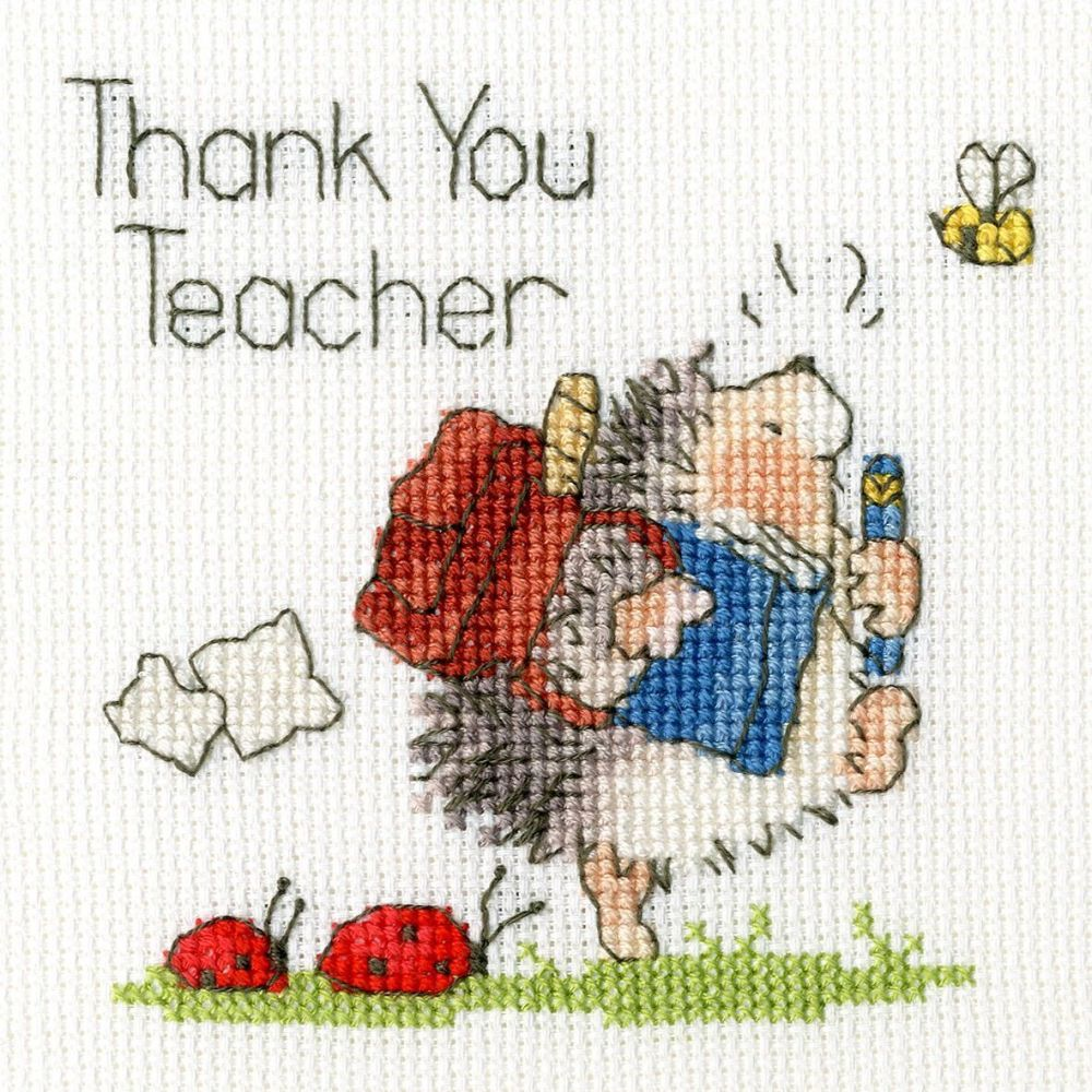 Schools Out Teacher Cross Stitch Card