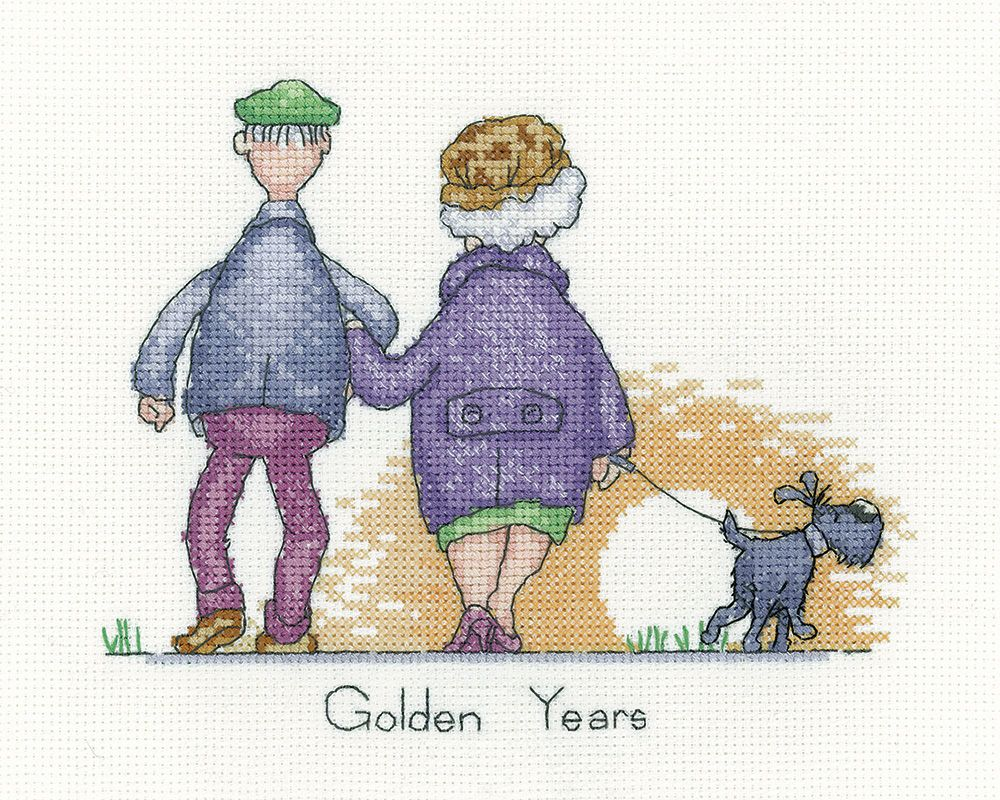 Golden Years - Peter Underhill cross stitch kit for Heritage Crafts