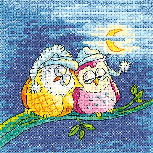 Night Owls - Heritage Crafts Cross Stitch Kit
