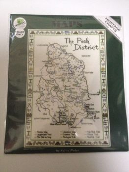 Peak District Map Cross Stitch CHART ONLY
