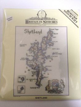 Shetland Islands Map Cross Stitch CHART ONLY