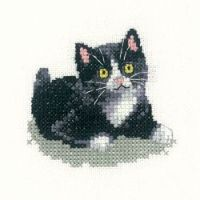 Black and White Kitten - Heritage Crafts 'Little Friends'