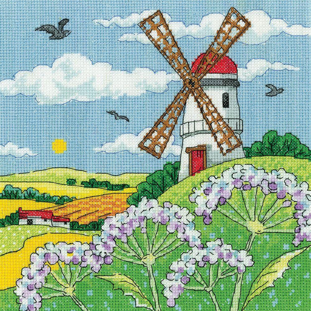 Windmill Landscape Cross Stitch Kit - Heritage Crafts