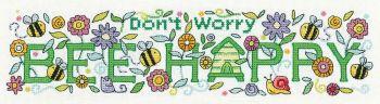Bee Happy Cross Stitch - Heritage Crafts