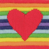 Long Stitch Heart - Beginners