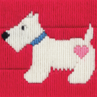 Long Stitch Westie Dog - Beginners