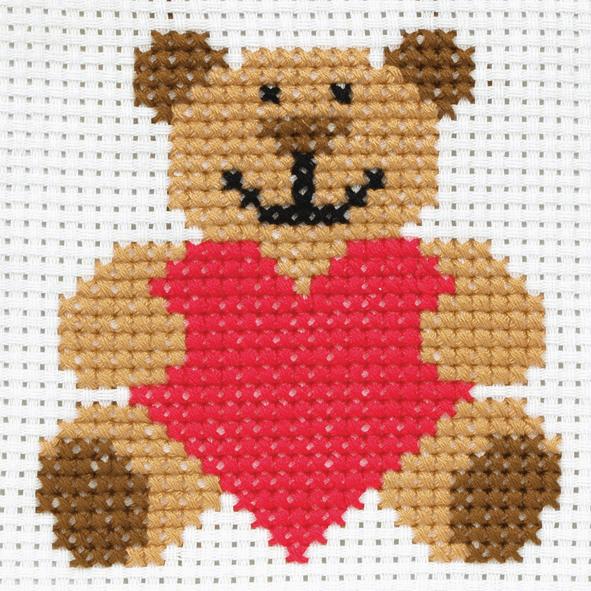 Cross Stitch Teddy Bear - Beginners