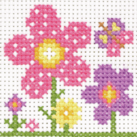 Cross Stitch Flowers - Beginners