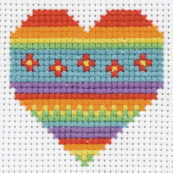 Cross Stitch Heart - Beginners