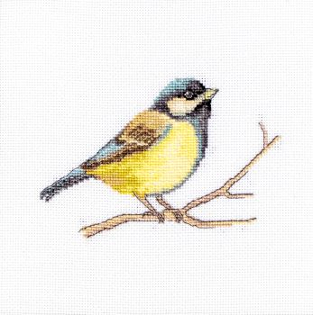 Great Tit Bird Cross Stitch Kit - Luca-S (Evenweave)