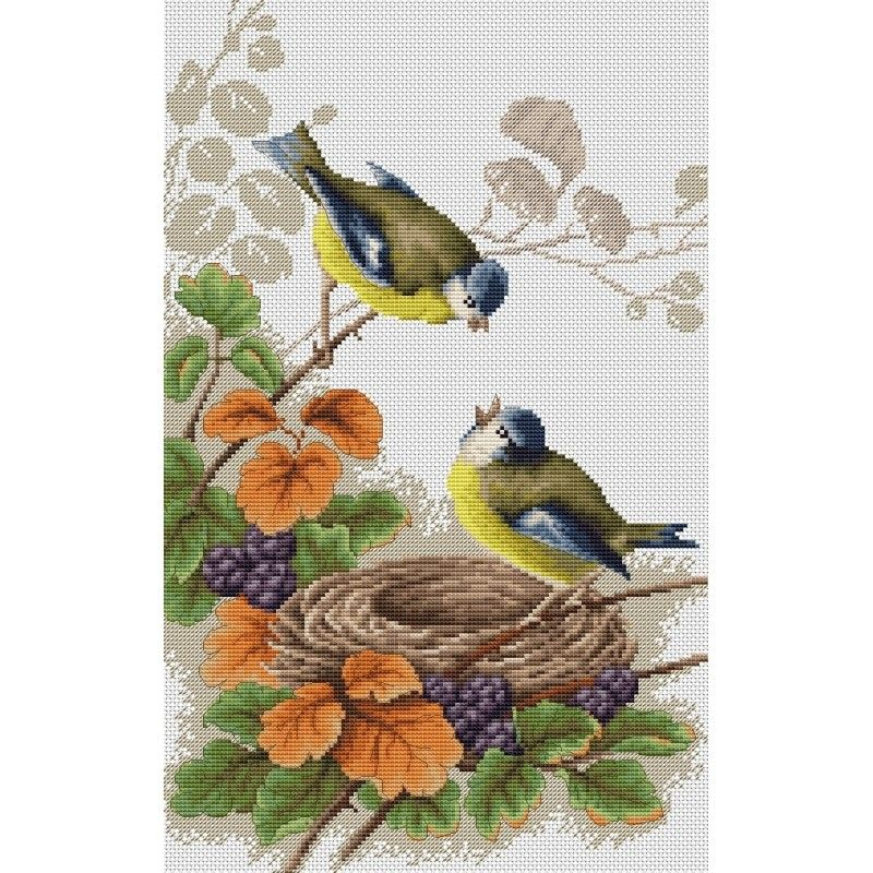 Birds in Nest Cross Stitch Kit - Luca-S