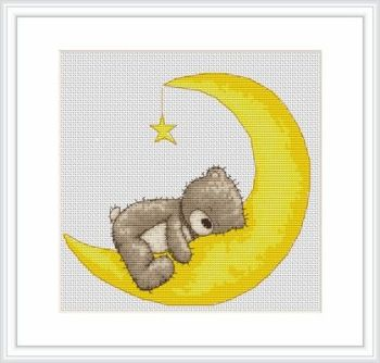 Sweet Dreams Bruno Bear Cross Stitch Kit - Luca-S