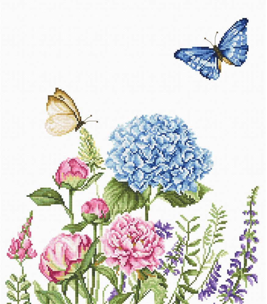 Summer Flowers & Butterflies Cross Stitch - Luca-S