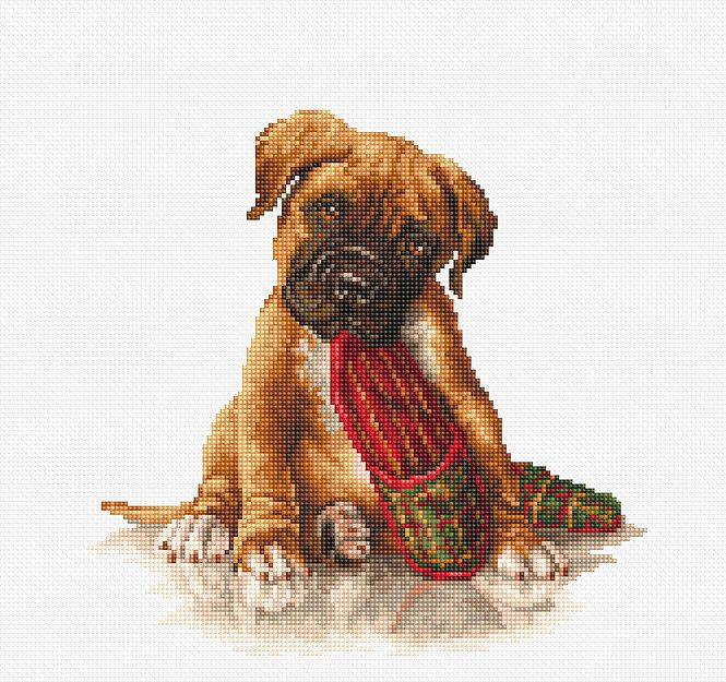 Boxer Dog Cross Stitch - Luca-S