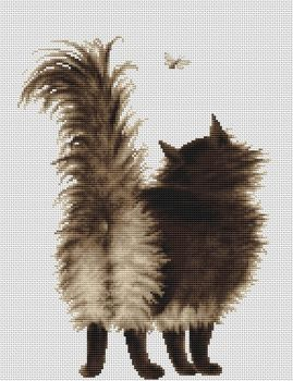 Shu Shun Cat Cross Stitch - Luca-S