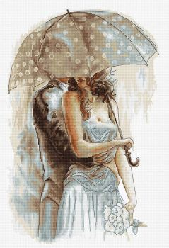 Couple under Umbrella II - Cross Stitch Kit by Luca-S