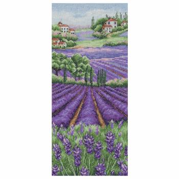 Provence Lavender Landscape Cross Stitch