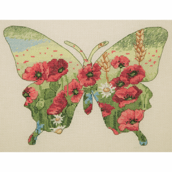 Butterfly Silhouette - Anchor Cross Stitch