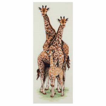 Giraffe Family Cross Stitch