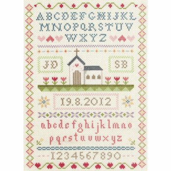 Traditional Style Wedding Sampler -  Cross Stitch