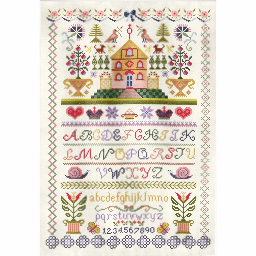 Traditional Style Sampler -  Cross Stitch