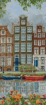 Amsterdam City Scene Cross Stitch
