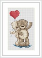 Young Love - Bruno and Bianca Bear Cross Stitch