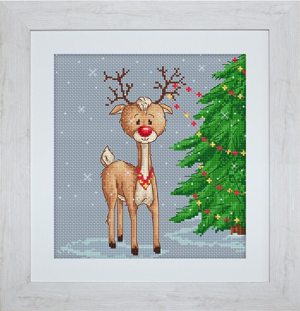 Denny Reindeer Cross Stitch Kit - Luca-S