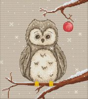 Festive Owl Cross Stitch Kit - Luca-S