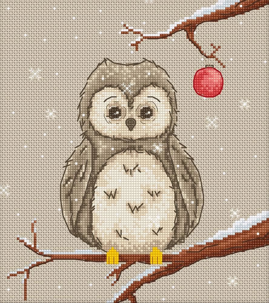 Festive Owl Cross Stitch Kit - Luca-S