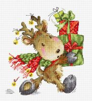 Reindeer with Gifts Cross Stitch Kit - Luca-S
