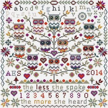 Owl Cross Stitch Sampler