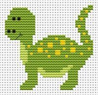 Dinosaur Cross Stitch - Sew Simple