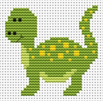 Dinosaur Cross Stitch - Sew Simple
