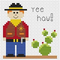 Cowboy Cross Stitch - Sew Simple