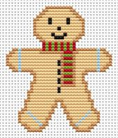 Gingerbread Man Cross Stitch - Sew Simple