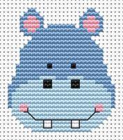 Hippo Cross Stitch - Sew Simple