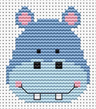 Hippo Cross Stitch - Sew Simple