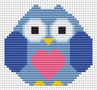 Heart Owl Cross Stitch - Sew Simple