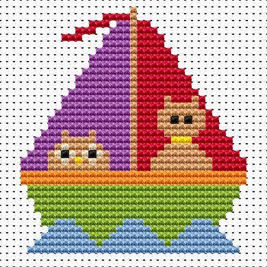 Owl & Pussycat Cross Stitch - Sew Simple