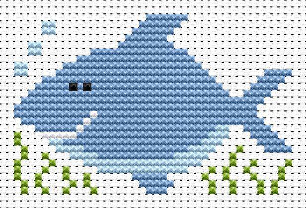 Shark Cross Stitch - Sew Simple