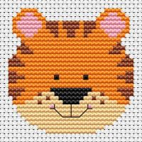 Tiger Cross Stitch - Sew Simple