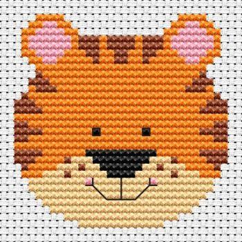 Tiger Cross Stitch - Sew Simple