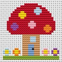 Toadstool Cross Stitch - Sew Simple