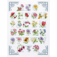 Floral Alphabet Sampler  Cross Stitch